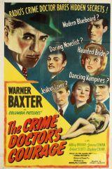 The Crime Doctor's Courage 1945 DVD - Warner Baxter / Hillary Brooke